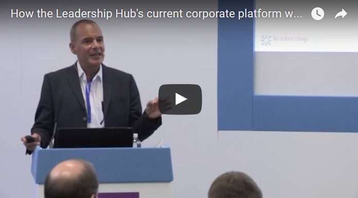 How the Leadership Hub's current corporate platform works
